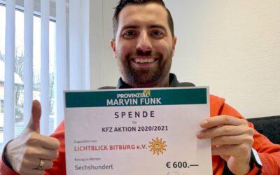 Spende für Kfz-Aktion